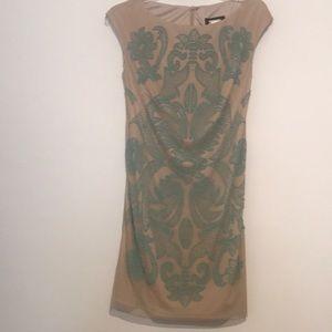 Alexia Admor Nude Green Beaded Dress, small